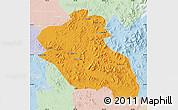 Political Map of Panshi, lighten