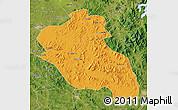 Political Map of Panshi, satellite outside