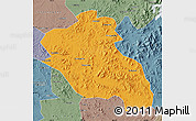 Political Map of Panshi, semi-desaturated