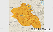 Political Map of Panshi, shaded relief outside