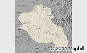 Shaded Relief Map of Panshi, darken, desaturated