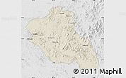 Shaded Relief Map of Panshi, lighten, desaturated