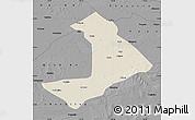 Shaded Relief Map of Qiangorlos, darken, desaturated