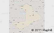Shaded Relief Map of Qiangorlos, semi-desaturated