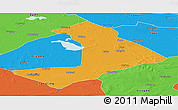 Political Panoramic Map of Qiangorlos