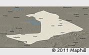 Shaded Relief Panoramic Map of Qiangorlos, darken
