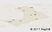 Shaded Relief Panoramic Map of Qiangorlos, lighten
