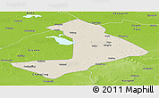 Shaded Relief Panoramic Map of Qiangorlos, physical outside