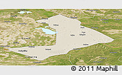 Shaded Relief Panoramic Map of Qiangorlos, satellite outside