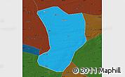 Political Map of Shuangliao, darken