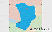 Political Map of Shuangliao, lighten