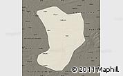 Shaded Relief Map of Shuangliao, darken