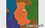 Political Map of Shuangyang, darken