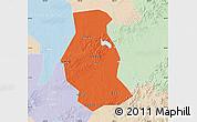 Political Map of Shuangyang, lighten