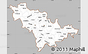 Gray Simple Map of Jilin, cropped outside