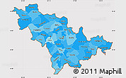 Political Shades Simple Map of Jilin, cropped outside