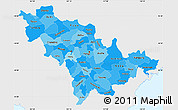 Political Shades Simple Map of Jilin, single color outside