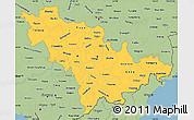 Savanna Style Simple Map of Jilin