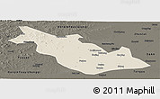 Shaded Relief Panoramic Map of Taoan, darken