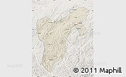 Shaded Relief Map of Tonghua, lighten