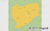 Savanna Style Map of Tongyu, single color outside