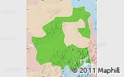 Political Map of Yongji, lighten