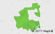 Political Map of Yongji, single color outside