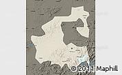Shaded Relief Map of Yongji, darken