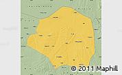 Savanna Style Map of Yushu