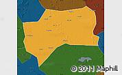 Political Map of Zhenlai, darken