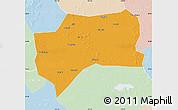 Political Map of Zhenlai, lighten