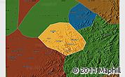Political Map of Anshan Shiqu, darken