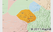 Political Map of Anshan Shiqu, lighten