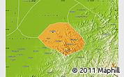 Political Map of Anshan Shiqu, physical outside