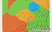 Political Map of Anshan Shiqu