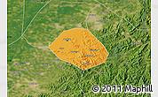 Political Map of Anshan Shiqu, satellite outside