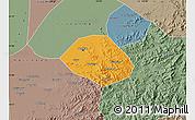 Political Map of Anshan Shiqu, semi-desaturated
