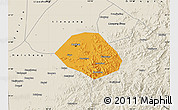 Political Map of Anshan Shiqu, shaded relief outside