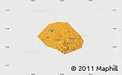 Political Map of Anshan Shiqu, single color outside