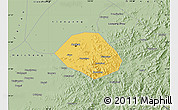 Savanna Style Map of Anshan Shiqu