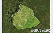 Satellite Map of Beizhen, darken