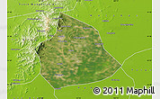 Satellite Map of Beizhen, physical outside