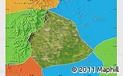Satellite Map of Beizhen, political outside
