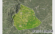 Satellite Map of Beizhen, semi-desaturated