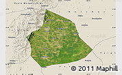 Satellite Map of Beizhen, shaded relief outside
