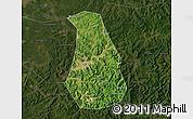 Satellite Map of Benxi Shiqu, darken