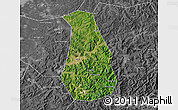 Satellite Map of Benxi Shiqu, desaturated
