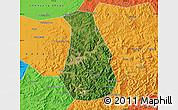 Satellite Map of Benxi Shiqu, political outside