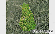 Satellite Map of Benxi Shiqu, semi-desaturated