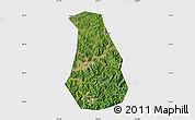 Satellite Map of Benxi Shiqu, single color outside